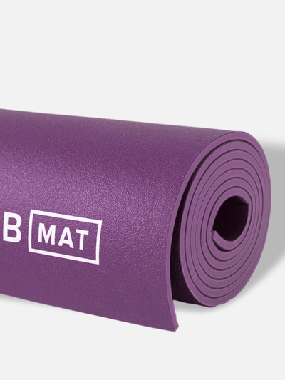 BYoga Yoga Mats Purple B Mat Strong Long – 6mm Yoga Mat Large Yoga Mat Perfect Men's Yoga Mat
