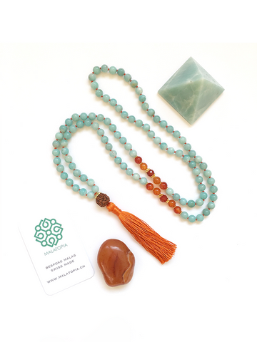 Courage + Compassion Mala Necklace