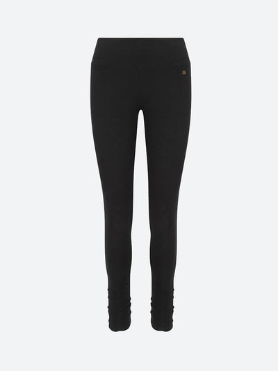Ruched Bottom Women's Organic Yoga Leggings, Black or Grey - chaYkra - £21.60
