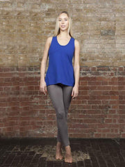 Mixed Marvel Organic Women's Yoga Leggings, Grey or Blue, Fair Trade - chaYkra - £20.40