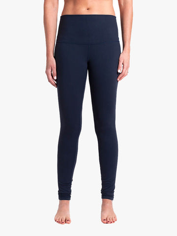 High Waisted Classic Yoga Leggings - Navy