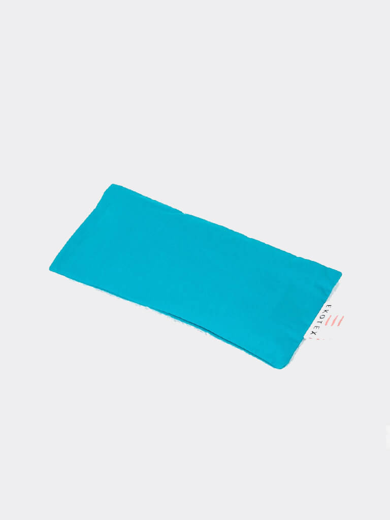Organic Cotton Eye Mask (Linseed & Dry Lavender) - Turquoise