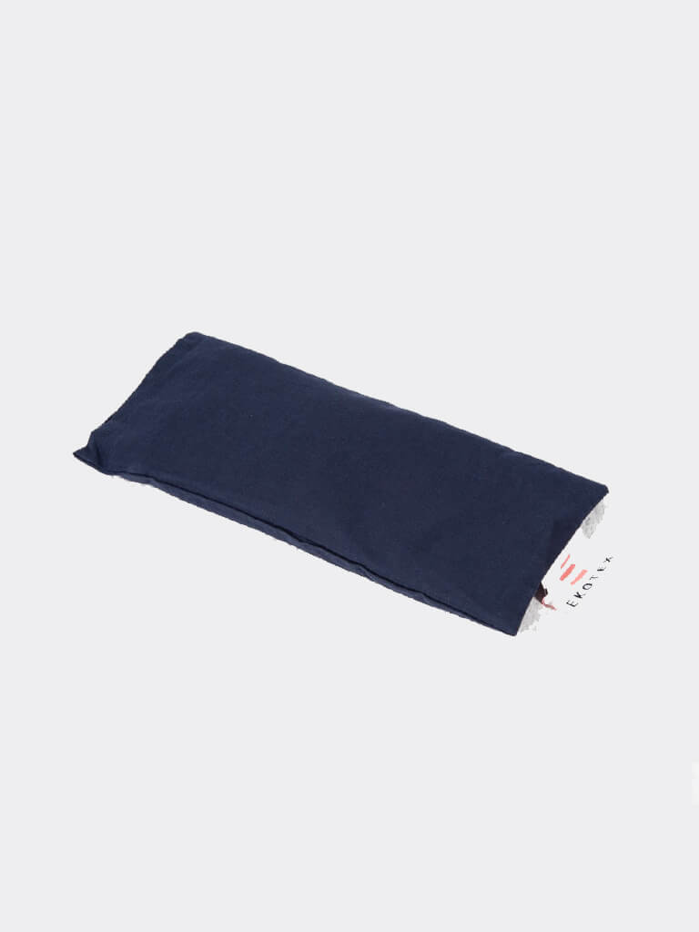 Organic Cotton Eye Mask (Flaxseed & Dry Lavender) - Navy - Ekotex Yoga - £6.88