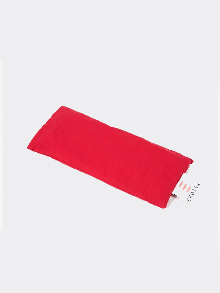 Organic Cotton Eye Mask (Flaxseed & Dry Lavender) - Red