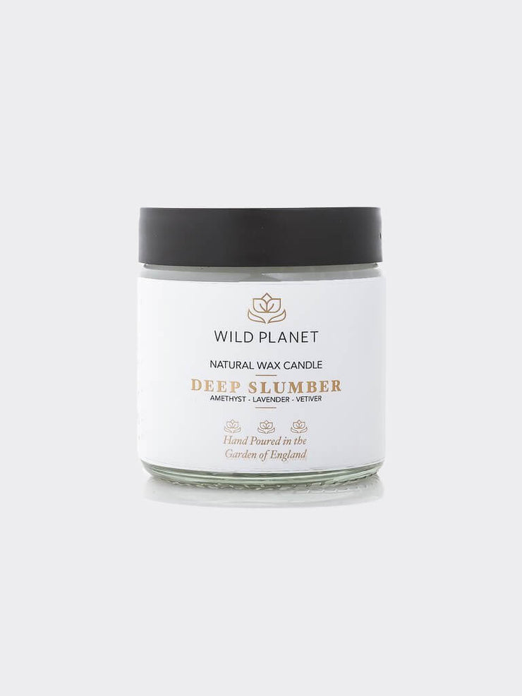 Deep Slumber - Crystal Infused Candle Jar with Amethyst - Wild Planet - £15.00