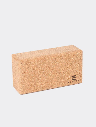 Ekotex Yoga Yoga Blocks & Bricks Brick / Natural Cork Yoga Brick