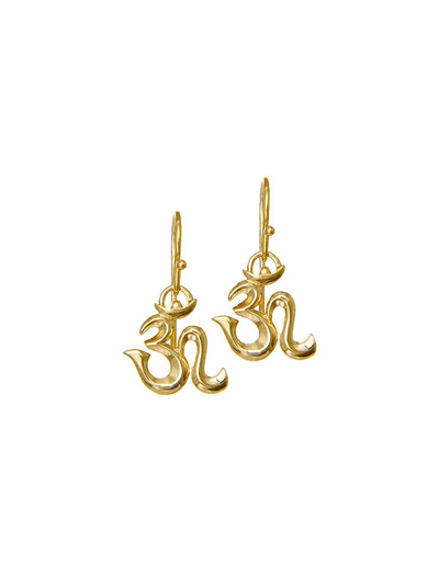 Eternal Bliss Spiritual earrings Gold OM Spiritual Earrings
