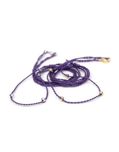Chakra Necklace Pendant Cord - Purple - Eternal Bliss - £20.00