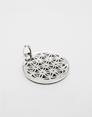 Eternal Bliss Spiritual necklaces Flower of Life Ruby Gemstone Pendant
