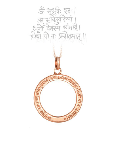 Eternal Bliss Spiritual necklaces Gayatri Mantra Pendant