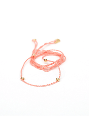 Chakra Necklace Pendant Cord - Flamingo Pink - Eternal Bliss - £24.00