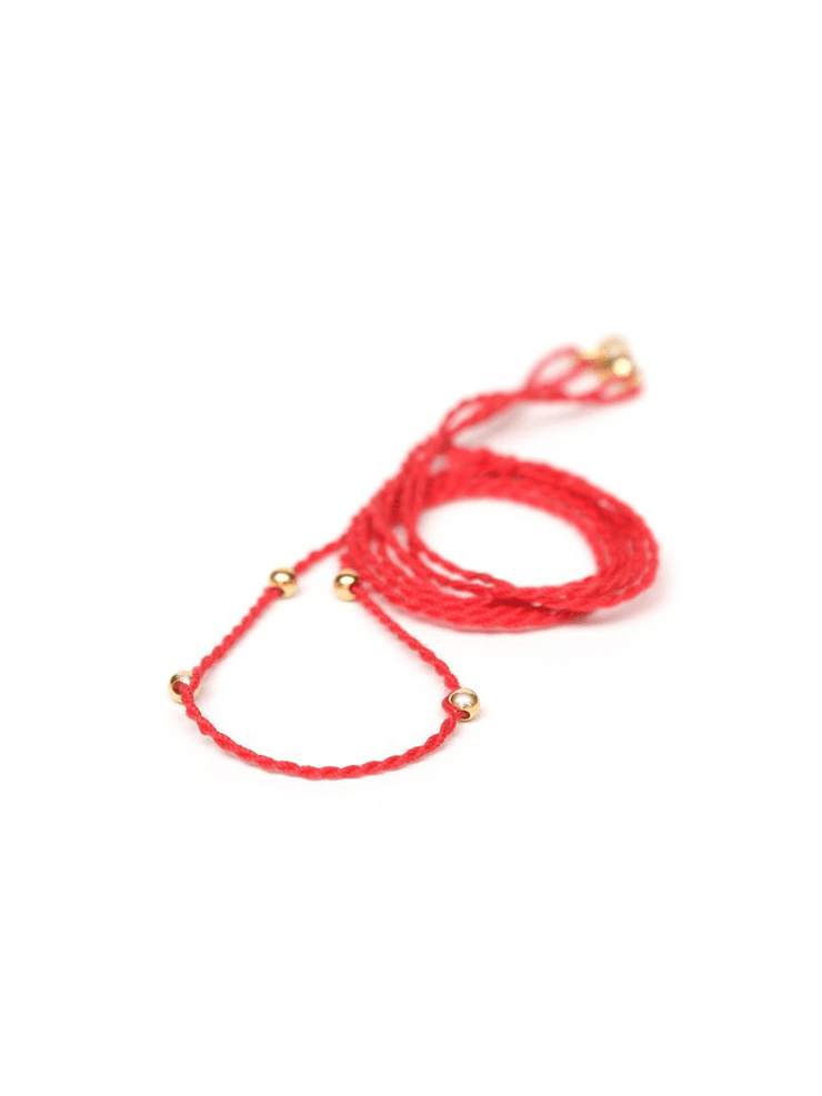 Eternal Bliss Spiritual necklaces Gold / 50cm Chakra Necklace Pendant Cord - Poppy Red