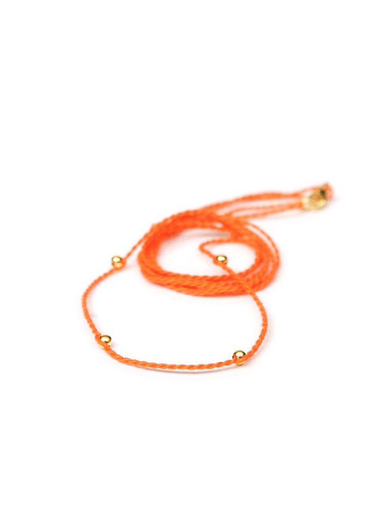 Eternal Bliss Spiritual necklaces Gold / 70cm Chakra Necklace Pendant Cord - Tangerine