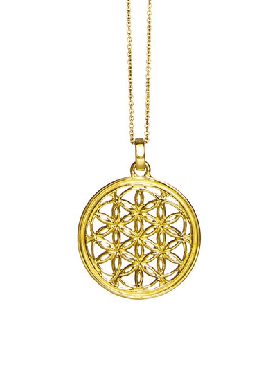 Eternal Bliss Spiritual necklaces Gold Flower of Life Pendant