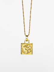 Eternal Bliss Spiritual necklaces Gold OM Charm Pendant - Gold