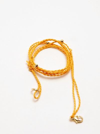 Eternal Bliss Spiritual necklaces Gold Pendant Cord - Saffron