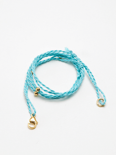 Eternal Bliss Spiritual necklaces Gold Pendant Cord - Turquoise