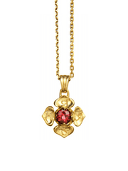 Eternal Bliss Spiritual necklaces Gold Root Chakra with Garnet Pendant