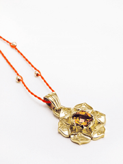 Eternal Bliss Spiritual necklaces Gold Sacral Chakra with Madeira Citrine Pendant
