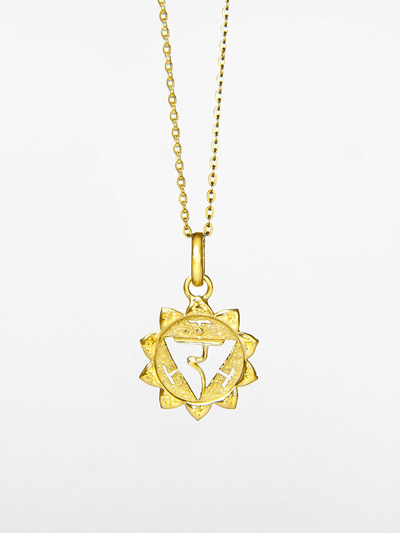 Eternal Bliss Spiritual necklaces Gold Solar Plexus Chakra Pendant - Gold