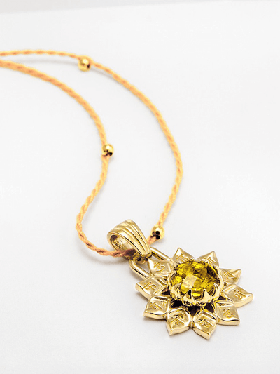 Eternal Bliss Spiritual necklaces Gold Solar Plexus Chakra With Citrine Pendant