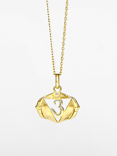 Eternal Bliss Spiritual necklaces Gold Third Eye Chakra Pendant - Gold