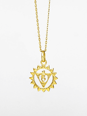 Eternal Bliss Spiritual necklaces Gold Throat Chakra Pendant - Gold
