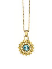 Eternal Bliss Spiritual necklaces Gold Throat Chakra with Topaz Pendant
