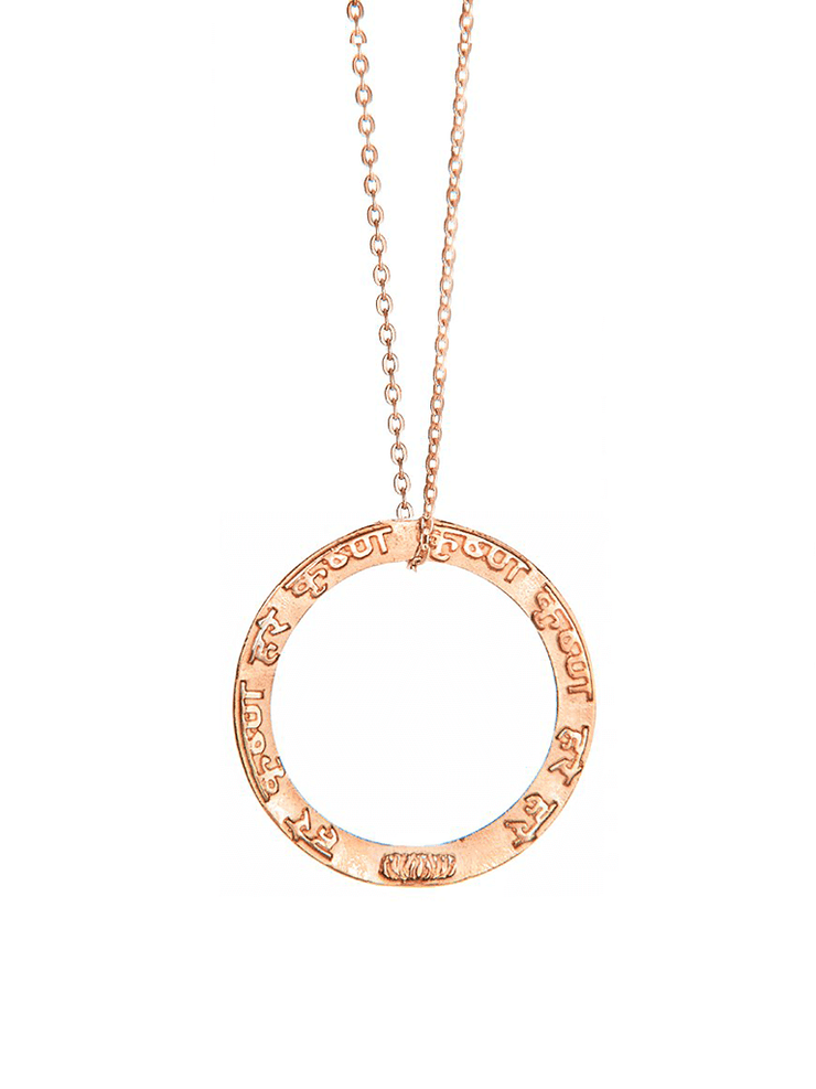 Eternal Bliss Spiritual necklaces Rose Gold / No Loop Maha Mantra Pendant