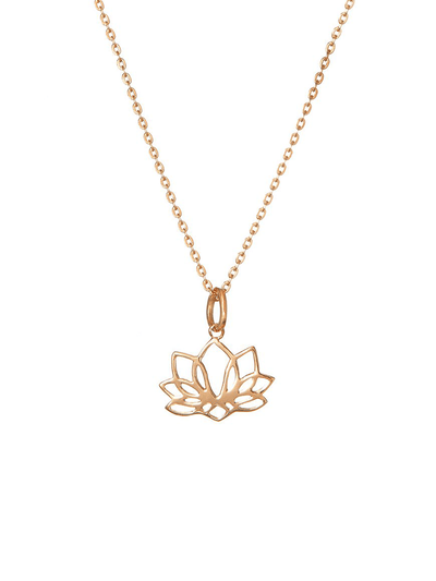 Eternal Bliss Spiritual necklaces Rose Gold Seven Leaf Lotus Pendant