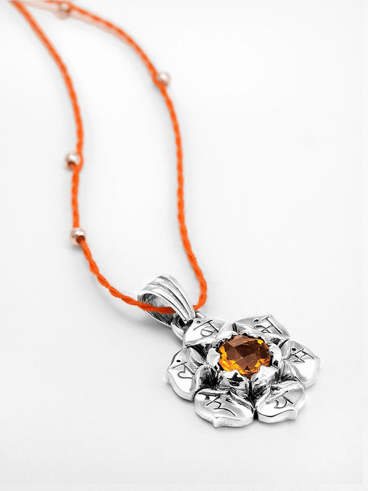Eternal Bliss Spiritual necklaces Sacral Chakra with Madeira Citrine Pendant