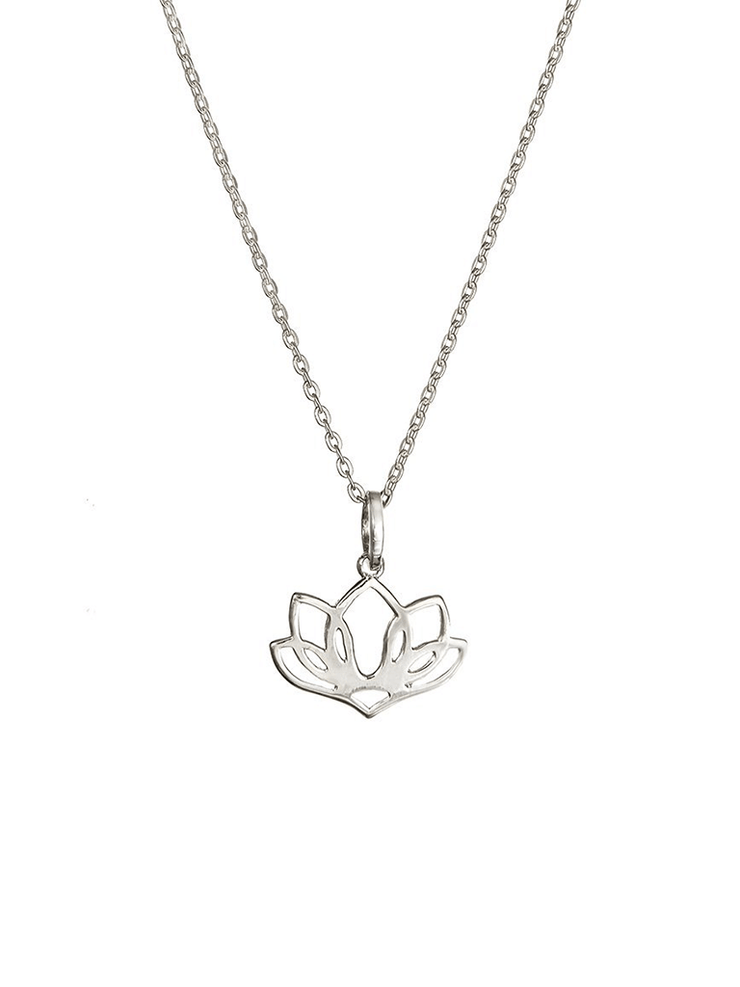 Eternal Bliss Spiritual necklaces Silver Five Leaf Lotus Pendant