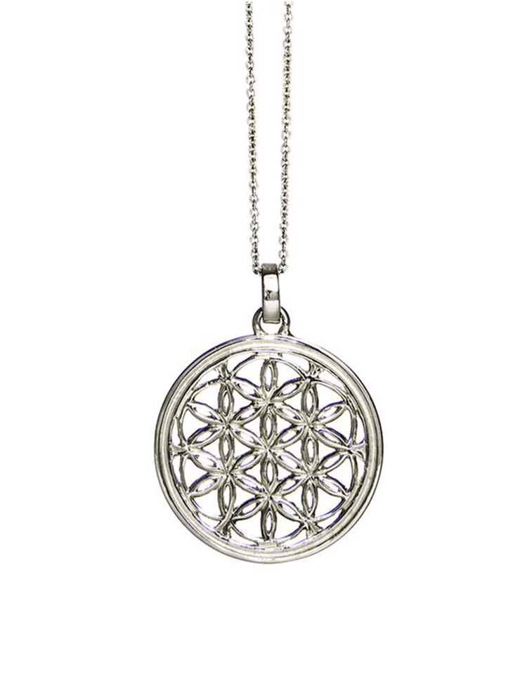 Eternal Bliss Spiritual necklaces Silver Flower of Life Pendant