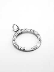 Eternal Bliss Spiritual necklaces Silver / Loop Maha Mantra Pendant