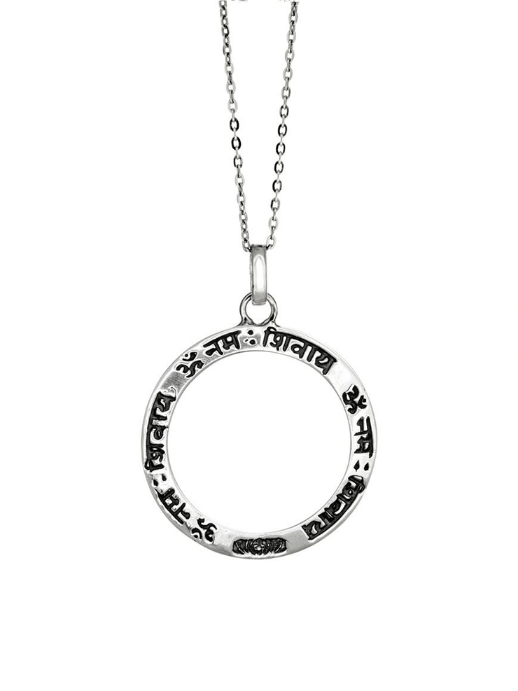 Eternal Bliss Spiritual necklaces Silver / Loop Shiva Mantra Pendant