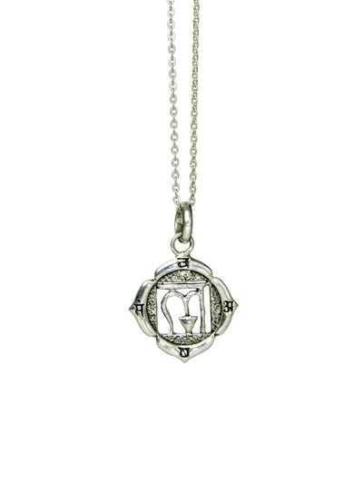 Eternal Bliss Spiritual necklaces Silver Root Chakra Pendant