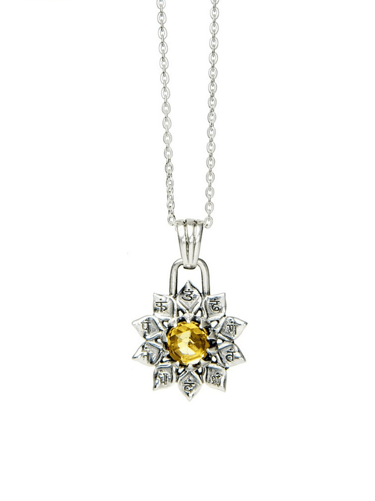 Eternal Bliss Spiritual necklaces Solar Plexus Chakra With Citrine Pendant