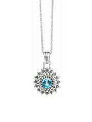 Eternal Bliss Spiritual necklaces Throat Chakra with Topaz Pendant