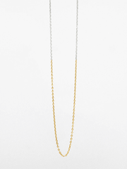 Two-Tone Glossy Anchor Chain Necklace - Eternal Bliss - £79.00