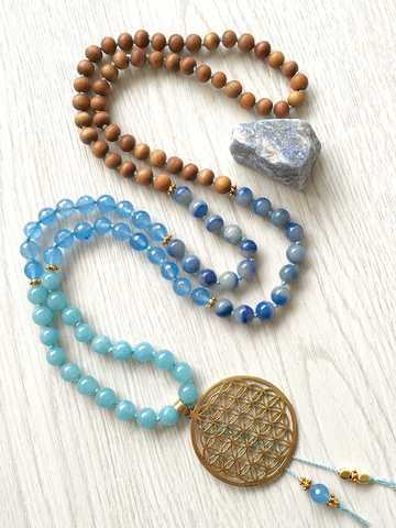 Flower of Life Mala Necklace