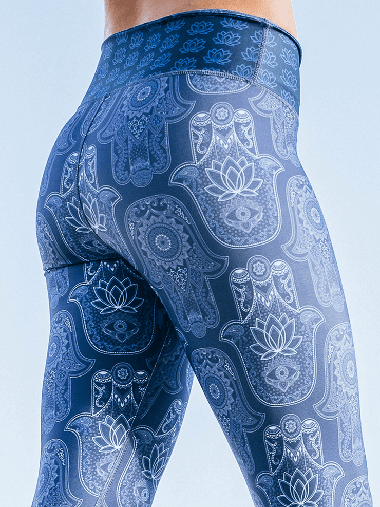 Eco Recycled Leggings - Hamsa Print - Free Spirit - £65.00