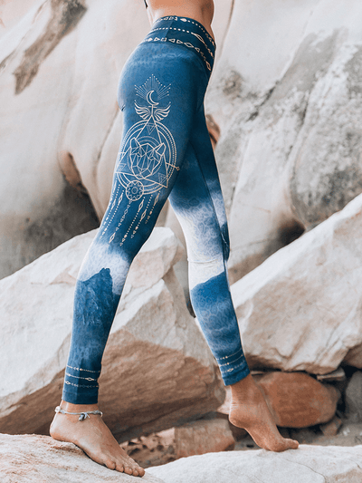Eco Recycled Leggings - Pachamama Print - Free Spirit - £65.00