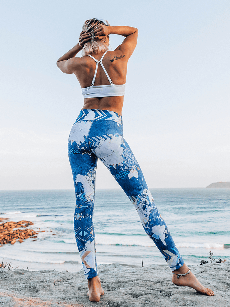 Eco Recycled Leggings - Wanderlust Print - Free Spirit - £65.00