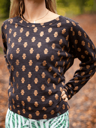 Free Spirit Sweaters Tiny Hamsa Sweater - 100% Cotton