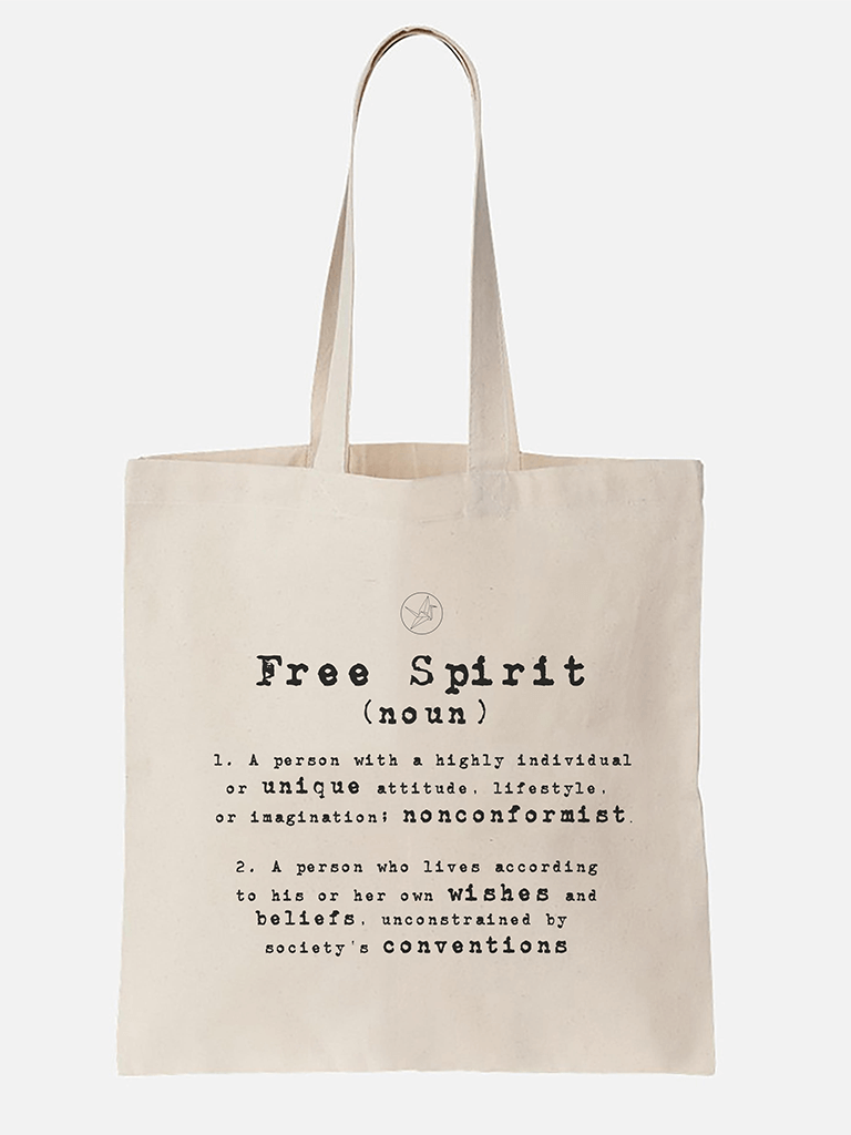 Organic Cotton Tote Bag - Free Spirit - £10.00