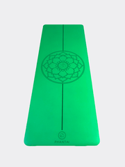 Mandala Yoga Mat - Green, Eco Made With Natural Rubber