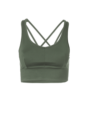 KISMET Bra Tops Green / X Small Radha Yoga Bra Top