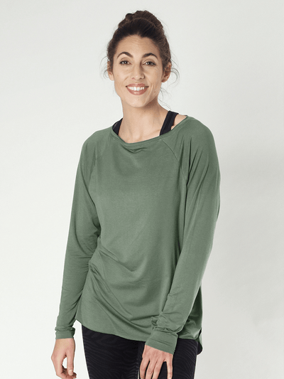 KISMET Long Sleeve Tops Green / X-Small Amun Long Sleeve Yoga Top