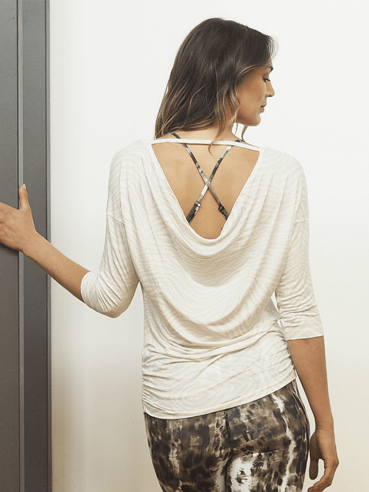 KISMET Long Sleeve Tops Shula Yoga Tank Top - Sand Snake
