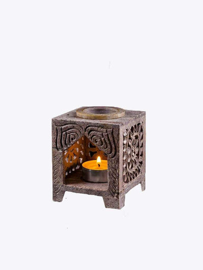 Kleem Candles Soapstone Tea Light Oil Burner